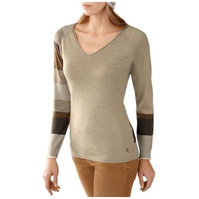 Smartwool Women's Scrolling Stripe V Neck Sweater