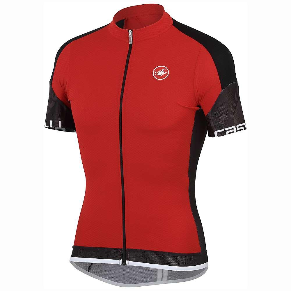 Castelli Men's Entrata Full Zip Jersey - Medium - Red / Black