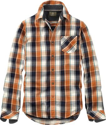 Timberland Men's Long Sleeve Allendale River Plaid Brushback Overshirt