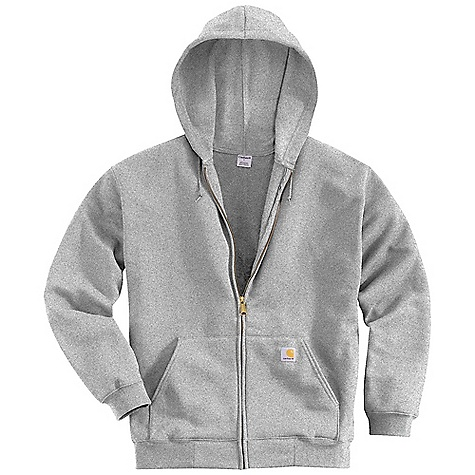 Carhartt Men's Midweight Hooded Zip Front Sweatshirt Heather Grey