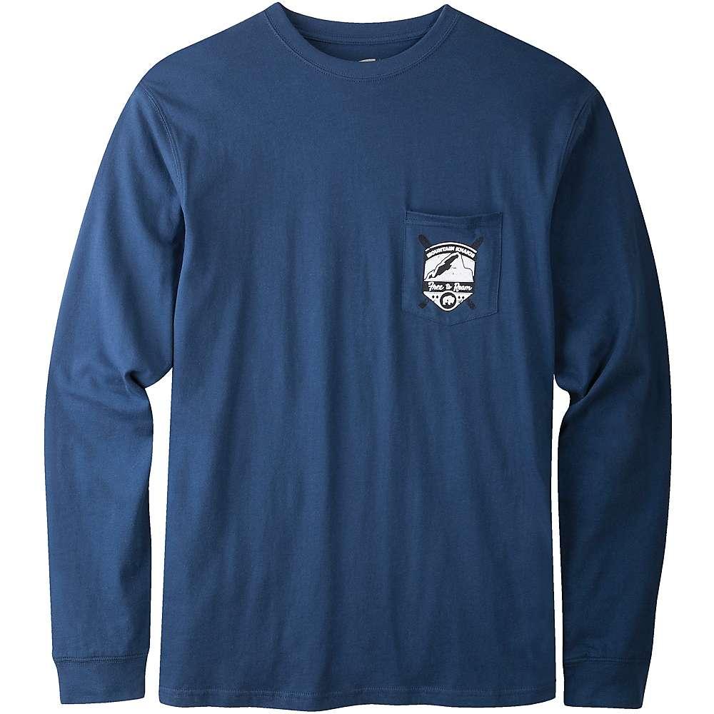 Mountain khakis men 39 s bison badge long sleeve pocket t for Mountain long sleeve t shirts