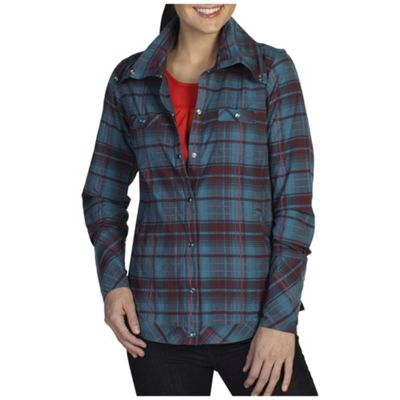 ExOfficio Women's Alba Plaid Long Sleeve Top