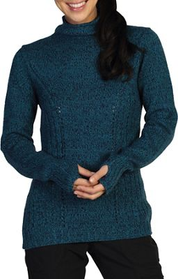 ExOfficio Women's Cafenista Marled Funnel Neck Sweater