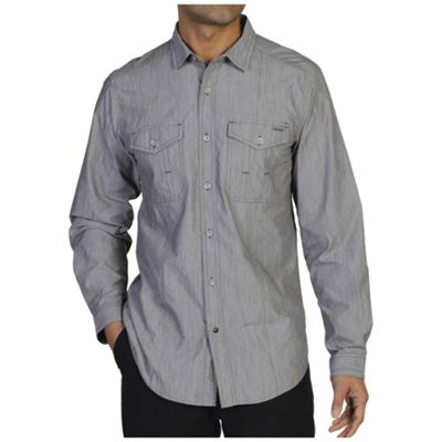 ExOfficio Men's Ferrara Chambray Long Sleeve Shirt