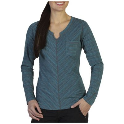ExOfficio Women's Go-to-Stripe Pocket Long Sleeve Top