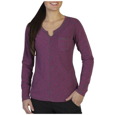 ExOfficio Women's Go-to-Stripe Pocket Long Sleeve Top