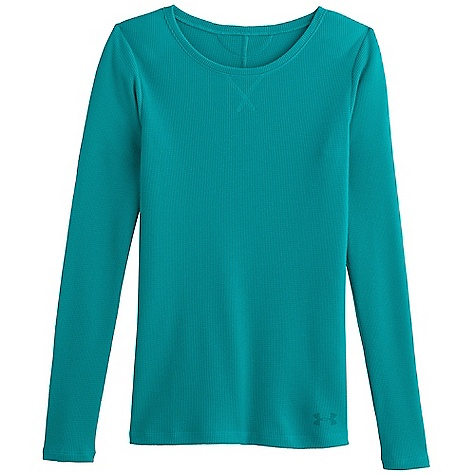 Under Armour Women's Cozy Waffle Long Sleeve Aqueduct
