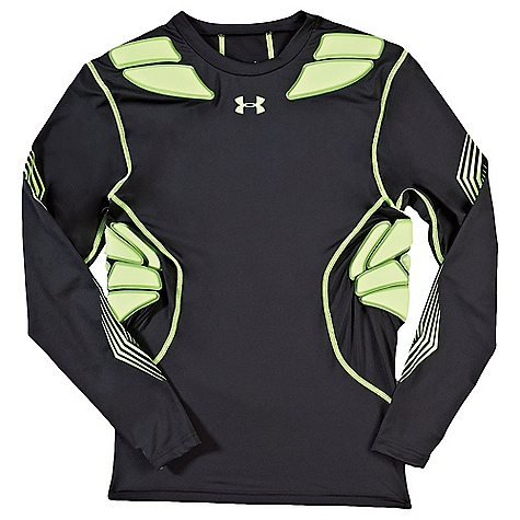 Under Armour Men's Gameday Armour Long Sleeve Top Black / Hyper Green
