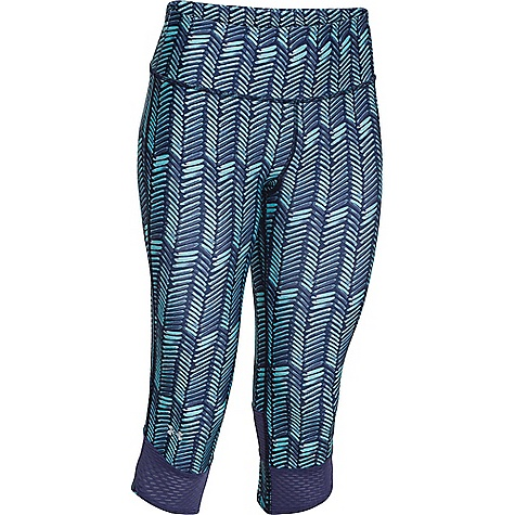 Under Armour Women's Fly By Printed Capri 1248730-419