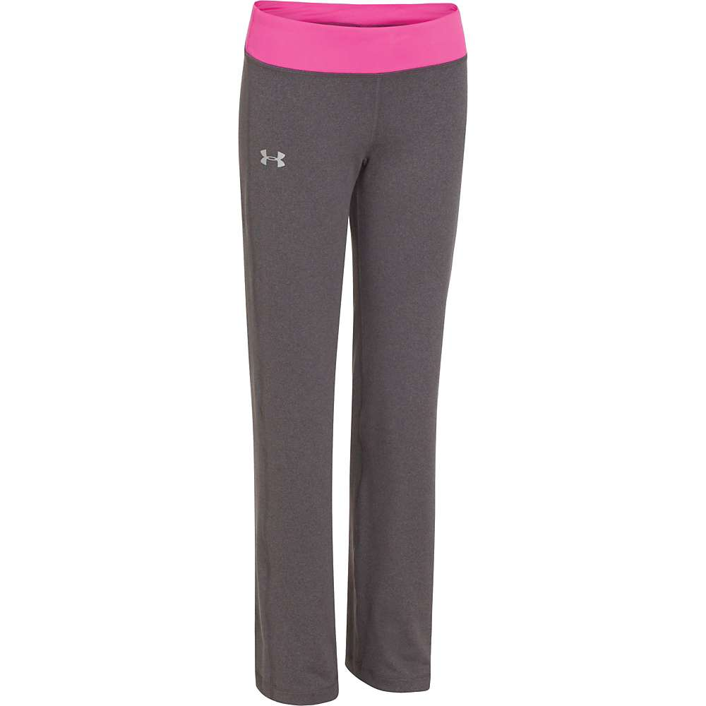 Under Armour Girls' Rally Pant - XL - Carbon Heather / Chaos / Silver