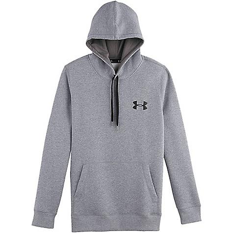 Under Armour Men's UA Rival Cotton Hoodie True Gray Heather / Graphite / Black