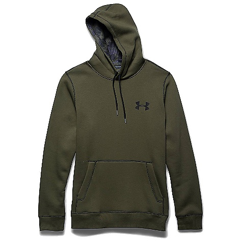 Under Armour Men's UA Rival Cotton Hoodie Greenhead / Rough / Black