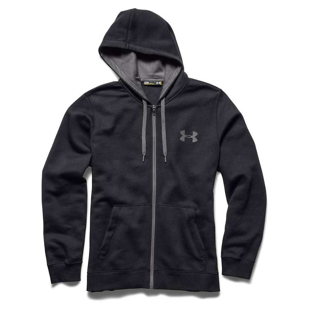 Under Armour Men's UA Rival Cotton Full Zip Hoodie - 3XL Tall - Black / Graphite / Graphite