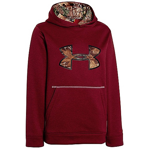 Under Armour Boys' Storm Caliber Hoody Big Apple Red Heather / Realtree AP - Xtra / White
