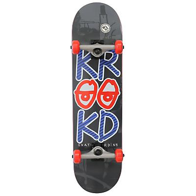 Krooked Stacked Eyes LG Skateboard Complete 8in