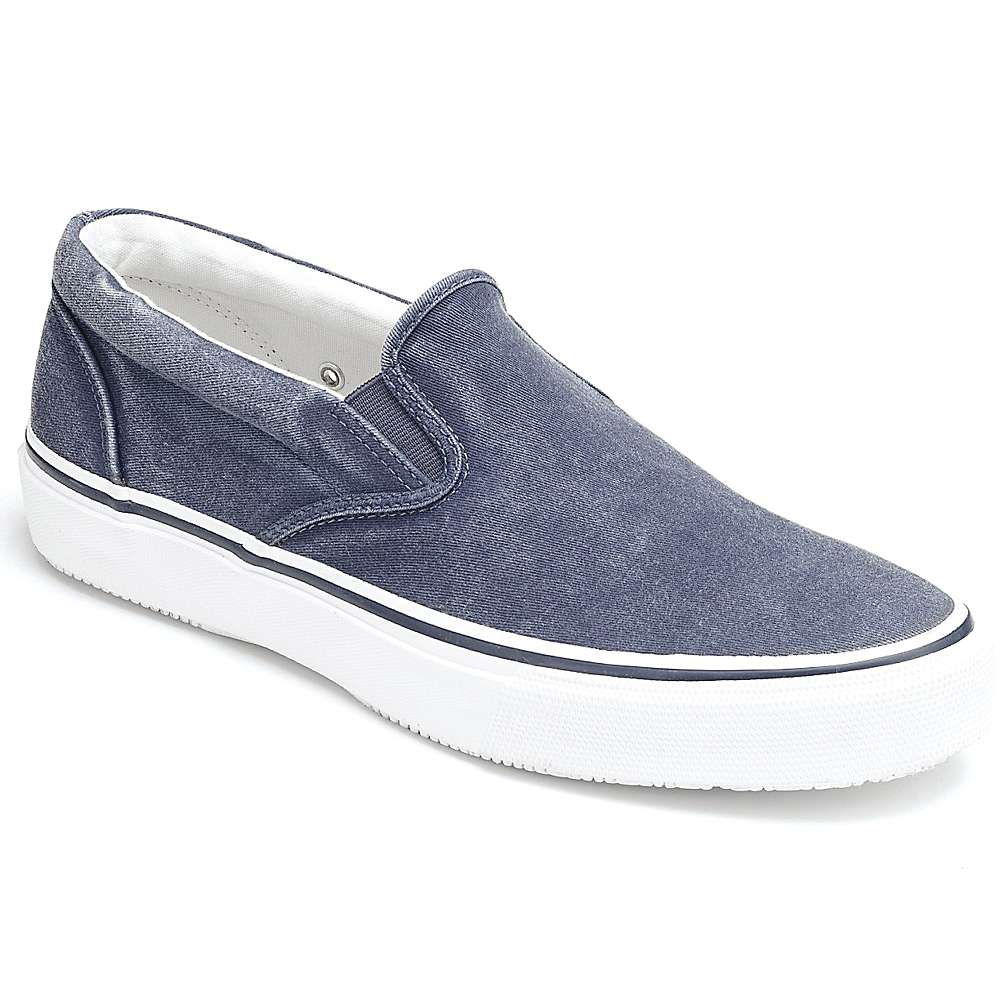 sperry s striper slip on shoe
