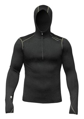 Hot Chillys Men's Micro Elite Chamois 8K Hooded Zip Top