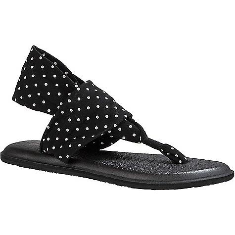 Sanuk Women's Yoga Sling 2 Prints Sandal Black / White Dots