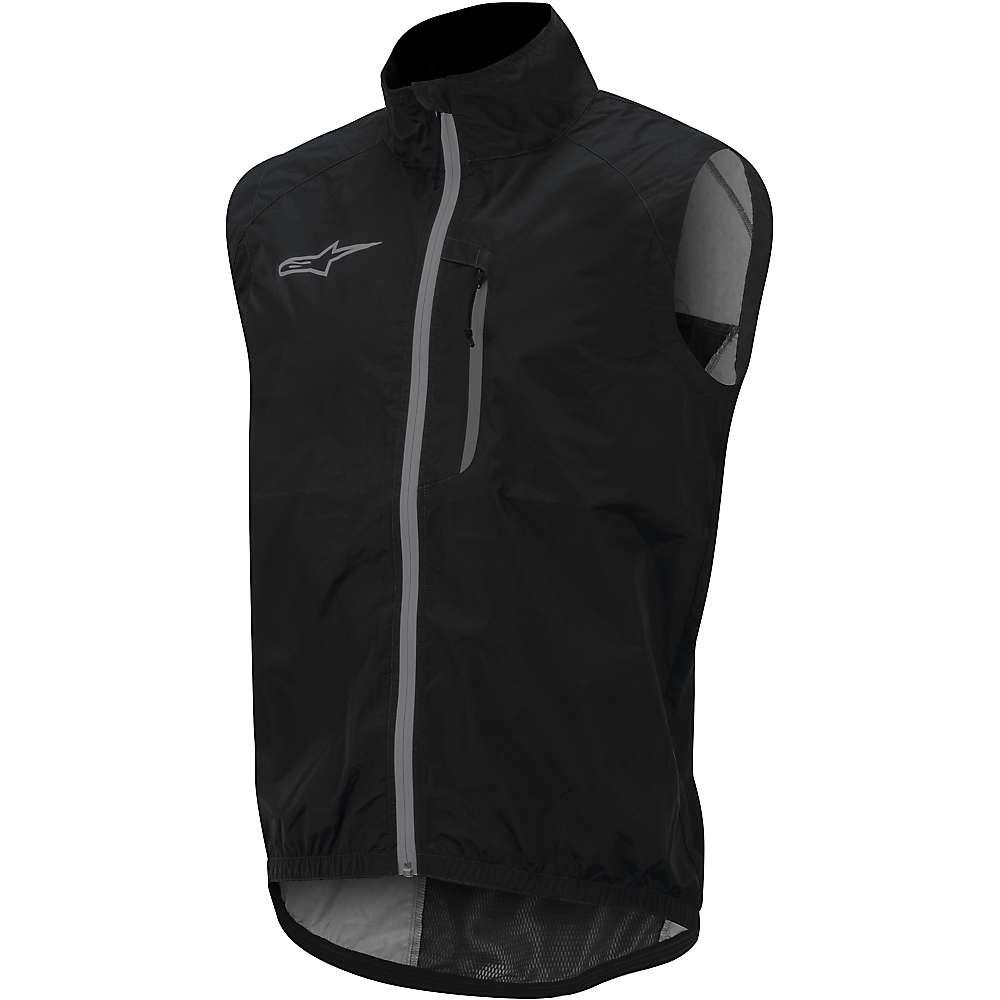 Alpine Stars Men's Descender Windproof Vest - Large - Black / Silver