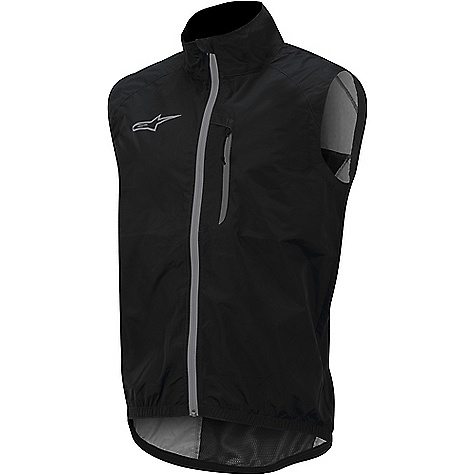 Alpine Stars Men's Descender Windproof Vest Black / Silver