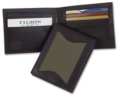 Filson Leather and Twill Outfitter Wallet