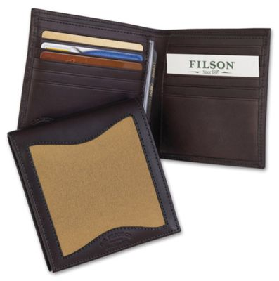 Filson Leather and Twill Packer Wallet