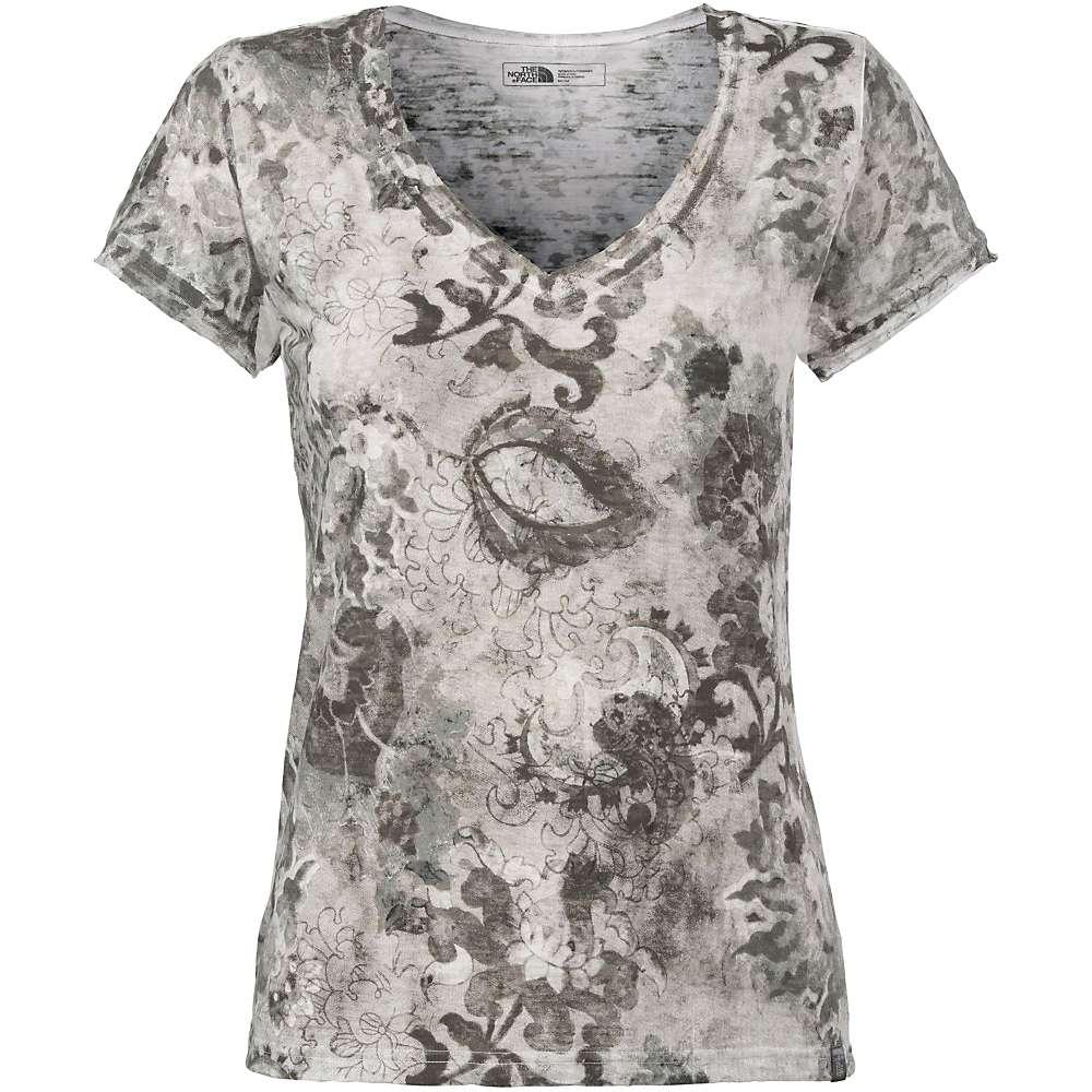 The North Face Women's Azalea V-Neck Tee - Small - TNF Black / TNF White Print