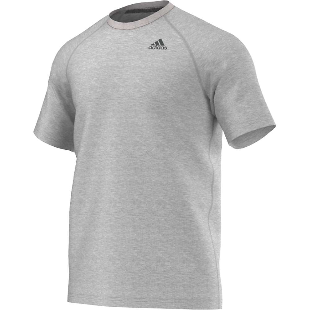 Adidas Men's Ultimate SS Tee - Large - Medium Grey Heather / Solid Grey