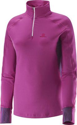 Salomon Women's Trail Runner Warm LS Zip Tee