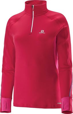 Salomon Women's Trail Runner Warm LS Zip Tee