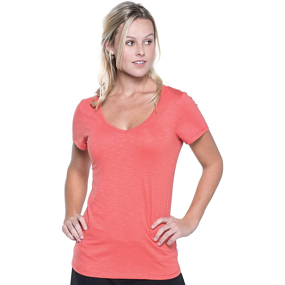 Toad & Co Women's Marley S/S Tee - XL - Spiced Coral