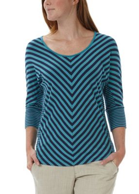 Royal Robbins Women's Noe Multi Stripe 3/4 Sleeve Top