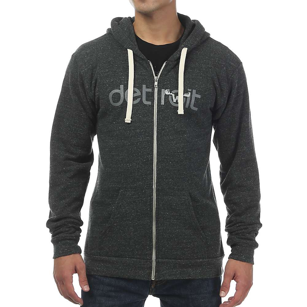 Moosejaw Men's Fearsome Foley Tri-Blend Zip Hoody - XXL - Heather Black / Cool Grey