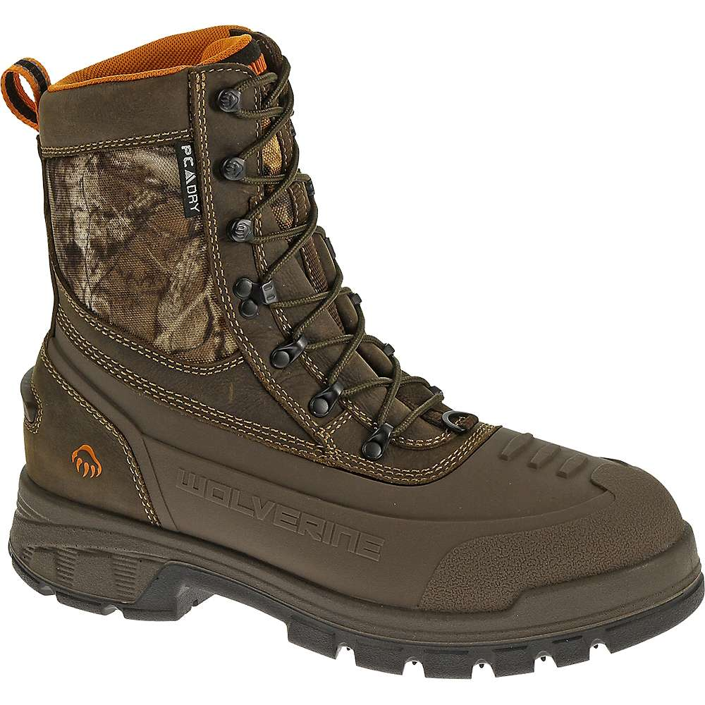 Wolverine Men's Jason Waterproof Insulated Lace Up Boot - 8 M - Dark Brown / Realtree Xtra