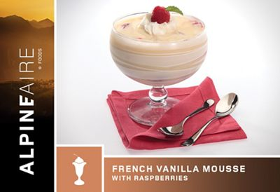 AlpineAire French Vanilla Mousse with Raspberries