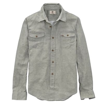 Timberland Men's Long Sleeve Hubbard River Linen Shirt