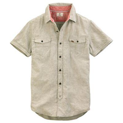 Timberland Men's SS Hubbard River Linen Shirt