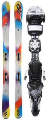 K2 SuperStitious Skis w/ Marker ERS 11.0 TC Demo Bindings - Women's
