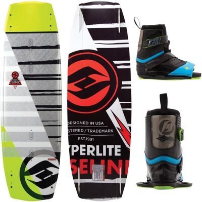 Hyperlite Baseline Wakeboard 141 w/ Focus Bindings 10-14 - Men's