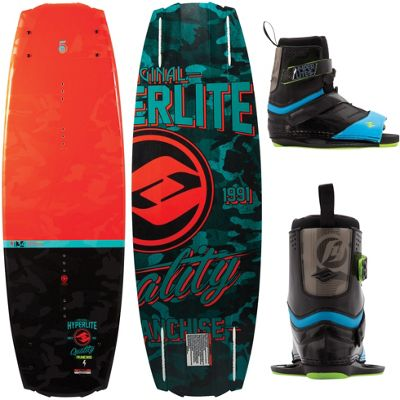 Hyperlite Franchise Wakeboard 138 w/ Focus Bindings 10-14 - Men's