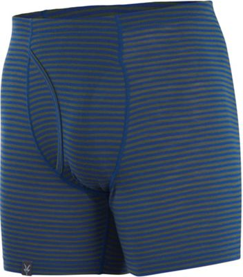 Ibex Men's Woolies 150 Boxer Brief Stripe