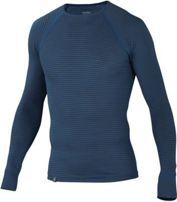 Ibex Men's Woolies 150 Crew Stripe Top