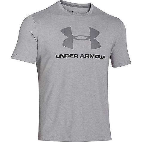 Under Armour Men's UA Charged Cotton Sportstyle Logo Tee True Grey Heather / Black / Graphite