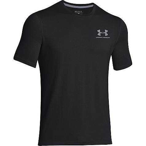 Under Armour Men's UA Charged Cotton Sportstyle Left Chest Lockup Black / Steel