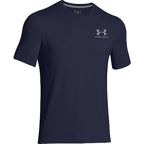 Under Armour Men's UA Charged Cotton Sportstyle Left Chest Lockup Midnight Navy / Steel