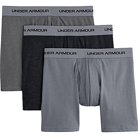 Under Armour Men's Charged Cotton Stretch 6 Inch Boxerjock 3 Pack 1242921