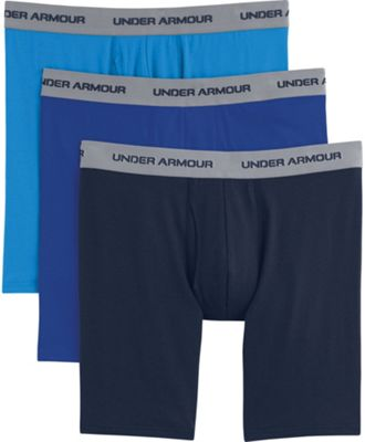 Under Armour Men's Charged Cotton Stretch 9 Inch Boxerjock 3 Pack