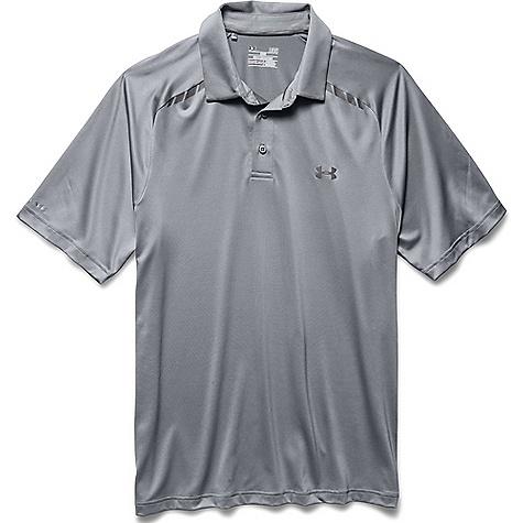 Under Armour coldblack Forged Stripe Golf Polo - Mens - Steel/Steel/Graphite