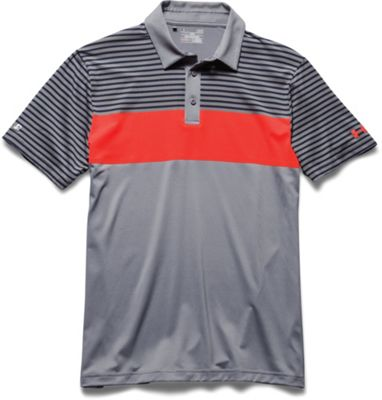 Under Armour Men's Coldblack Major Stripe Polo