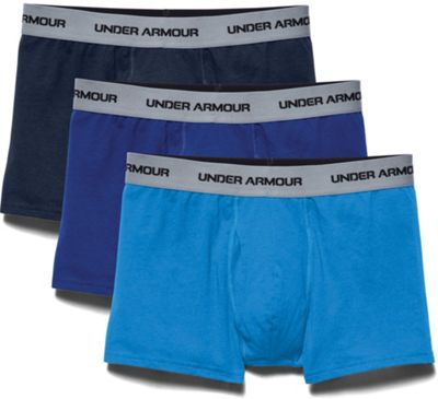 Under Armour Men's Charged Cotton Stretch 3 Inch Boxerjock 3 Pack